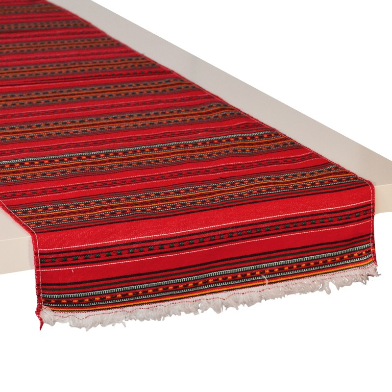 Stripes_Table-runner-Red_Kythnos