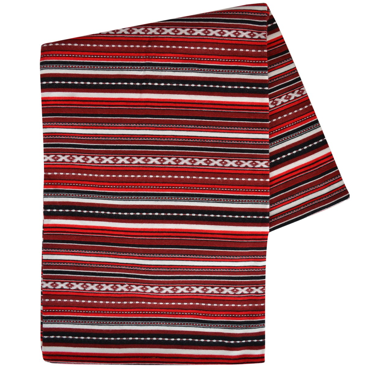 Couch striped blanket, aubergine