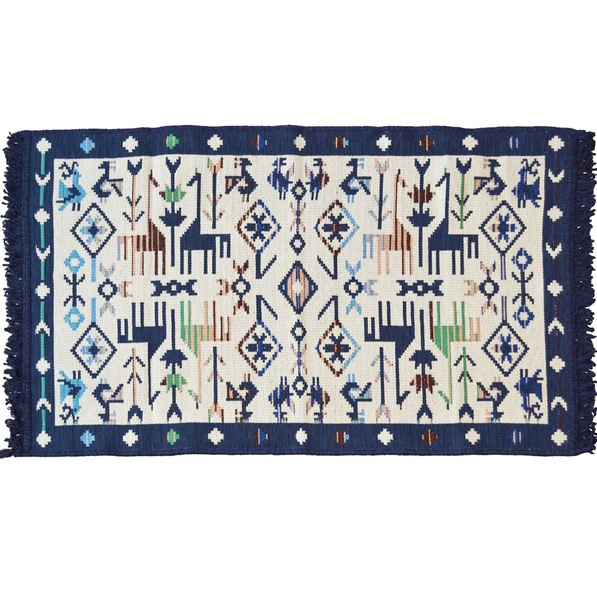 Elati Ethnic Carpet, Greek Blue