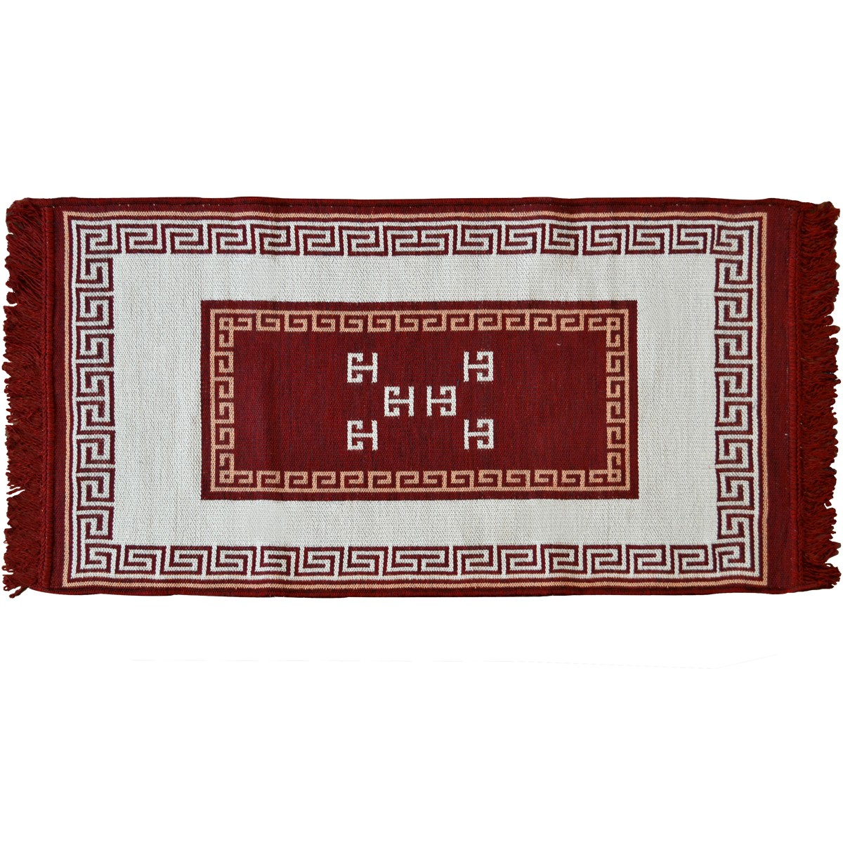 Meander Carpet, Two Sided, Cherry Red