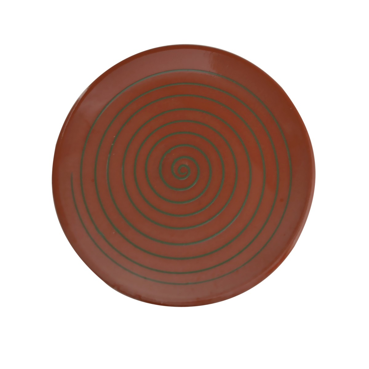 10010-Green_Spiral_Handcrafted_Ceramic_Plate-1