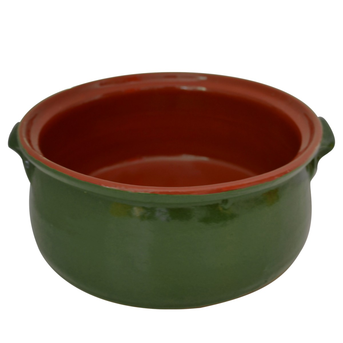 Olive Green Oven-Use Claypot-1