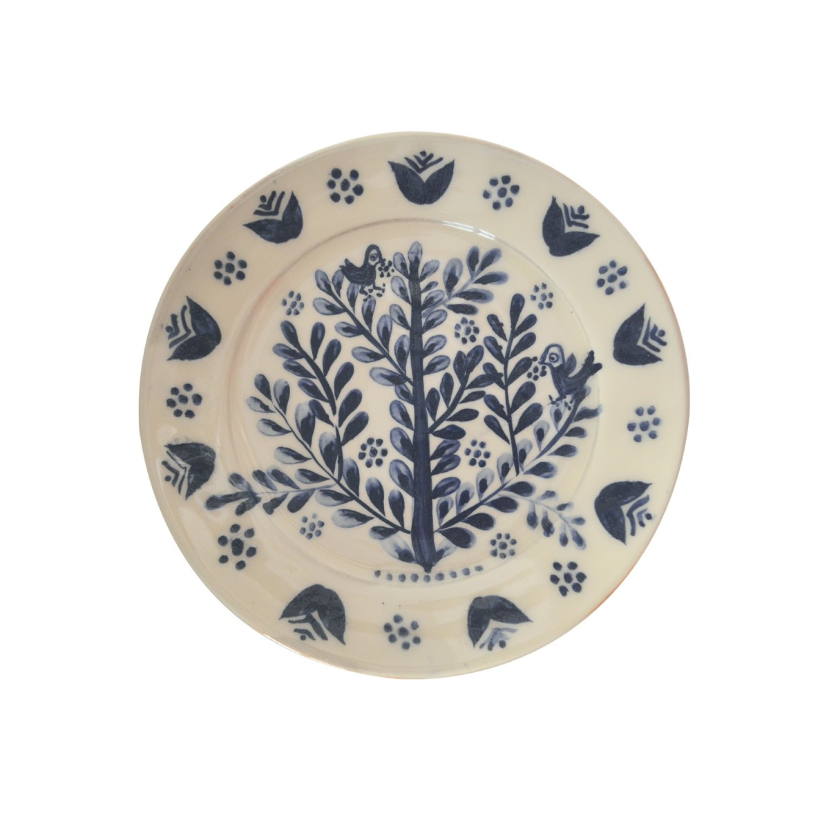 10011-Birds_on_Tree_Hand_Painted_Ceramic_Plate-1