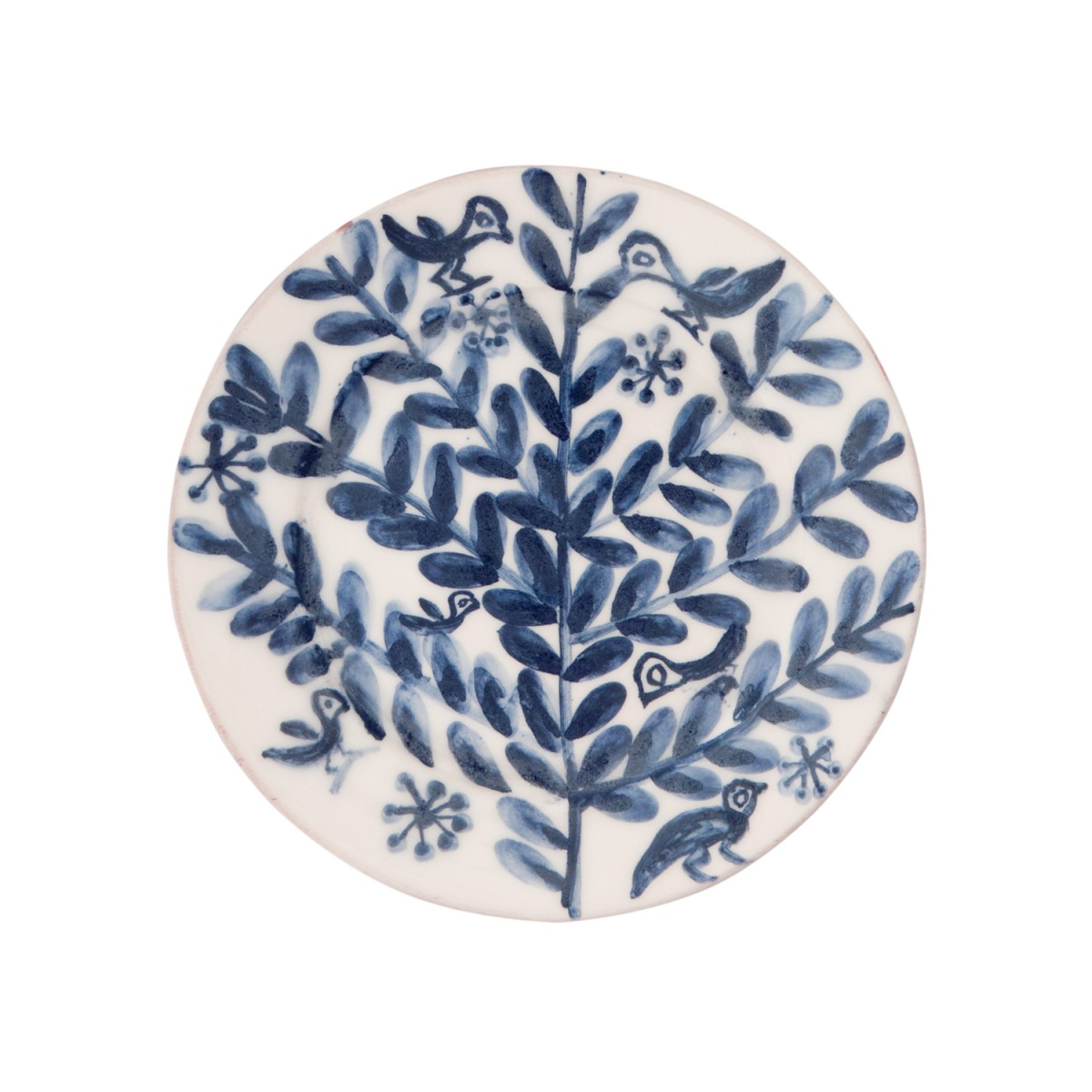 Decorative Blue and White Plates - Tree with Birds-1