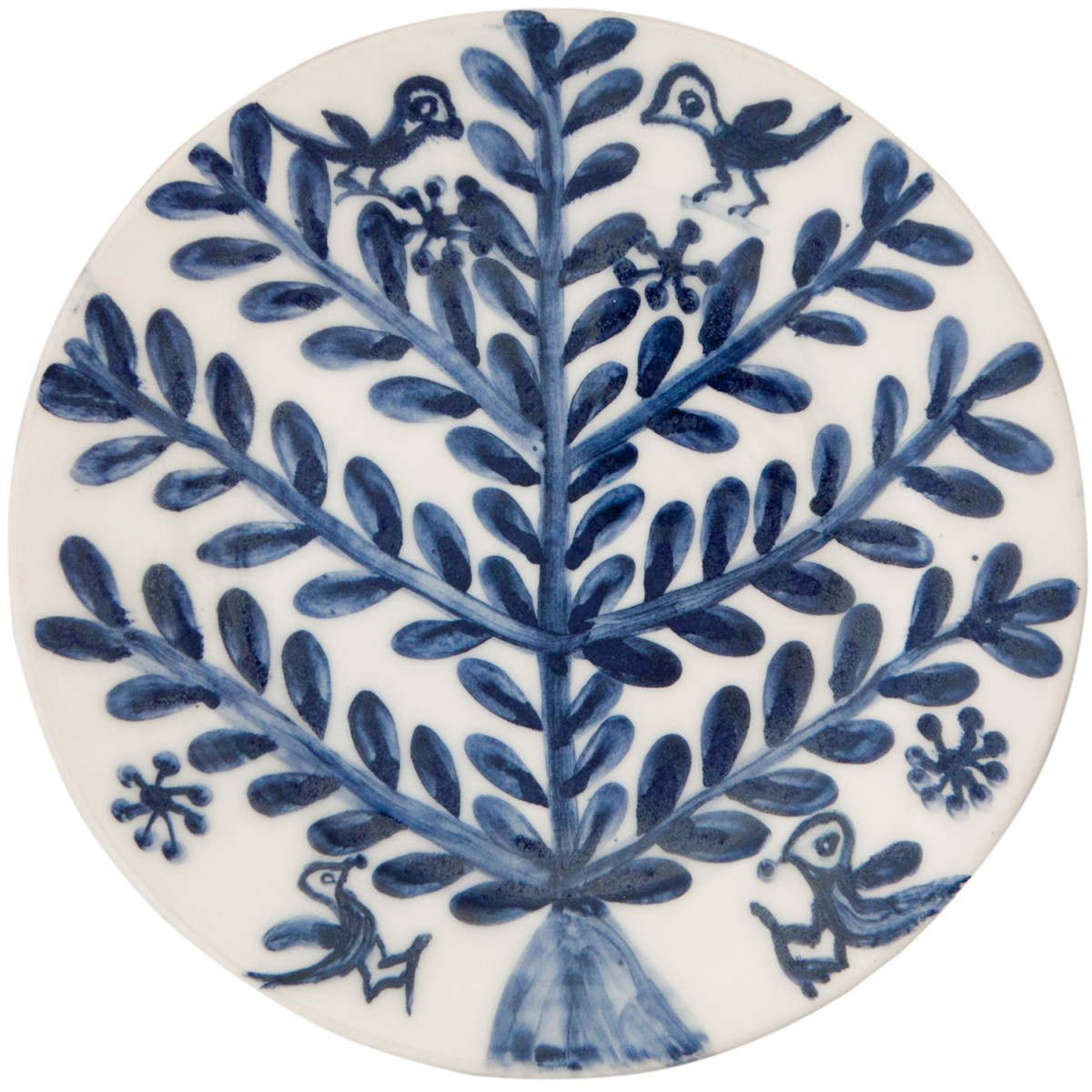 Decorative Blue and White Plates for sale - Tree & Birds-1