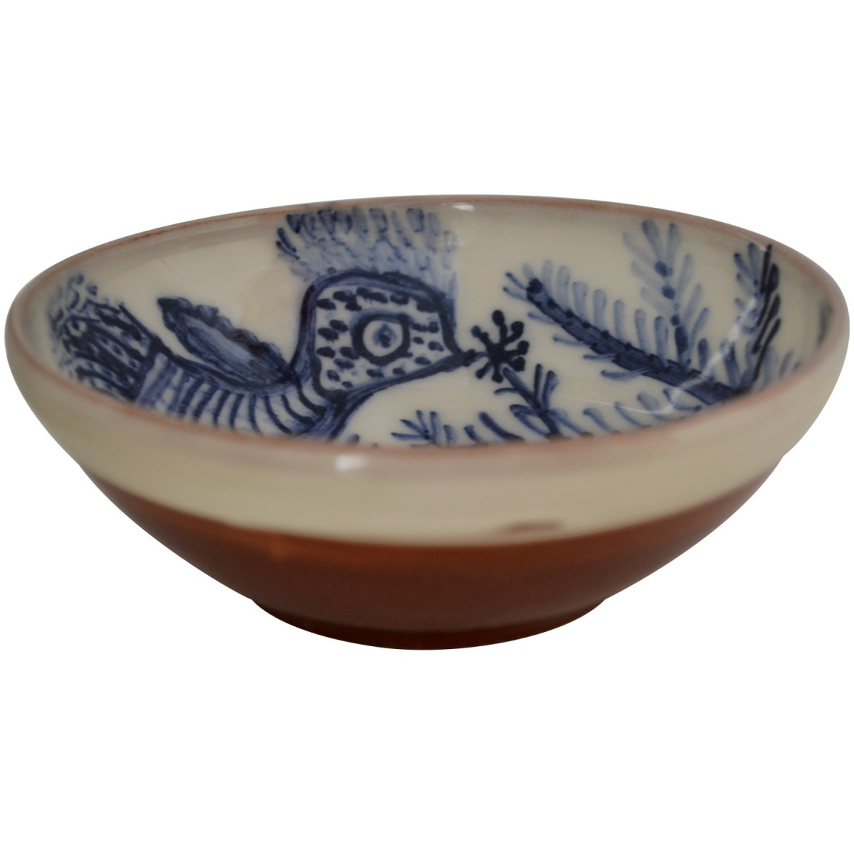 hand Painted Bowls | Bohemian Bird on branch-1