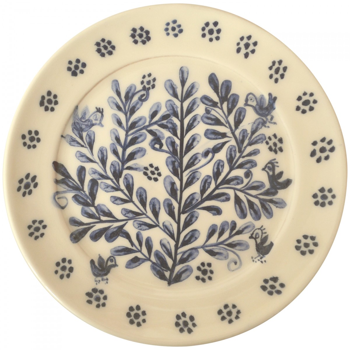 Branch_w_Birds_Hand_painted_Plate-1