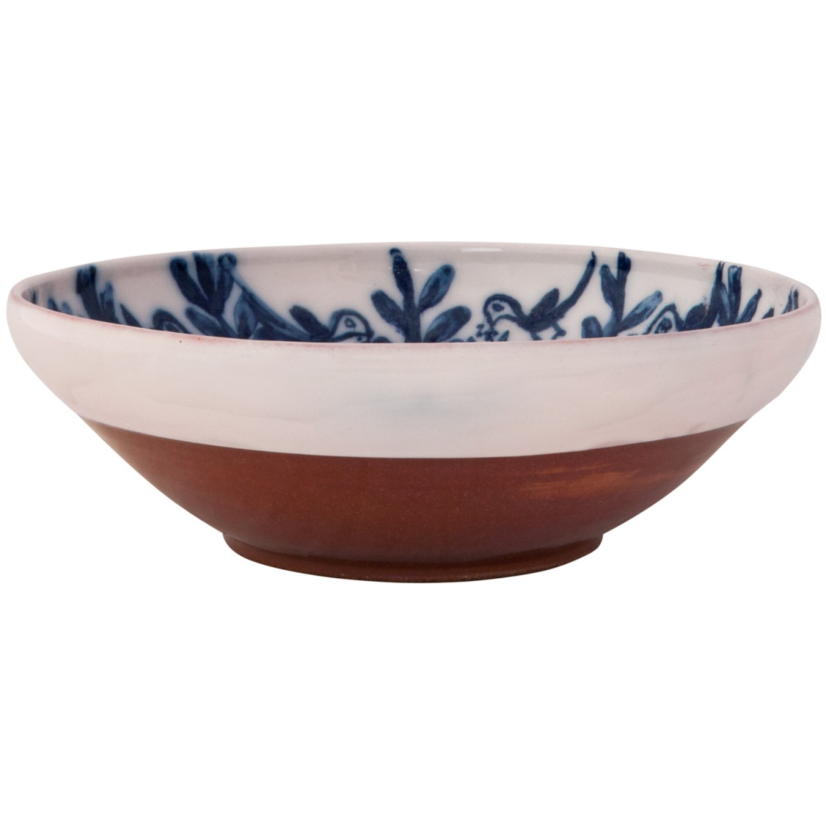 Large Decorative - Bowls Blue and White Plant and Birds - 1