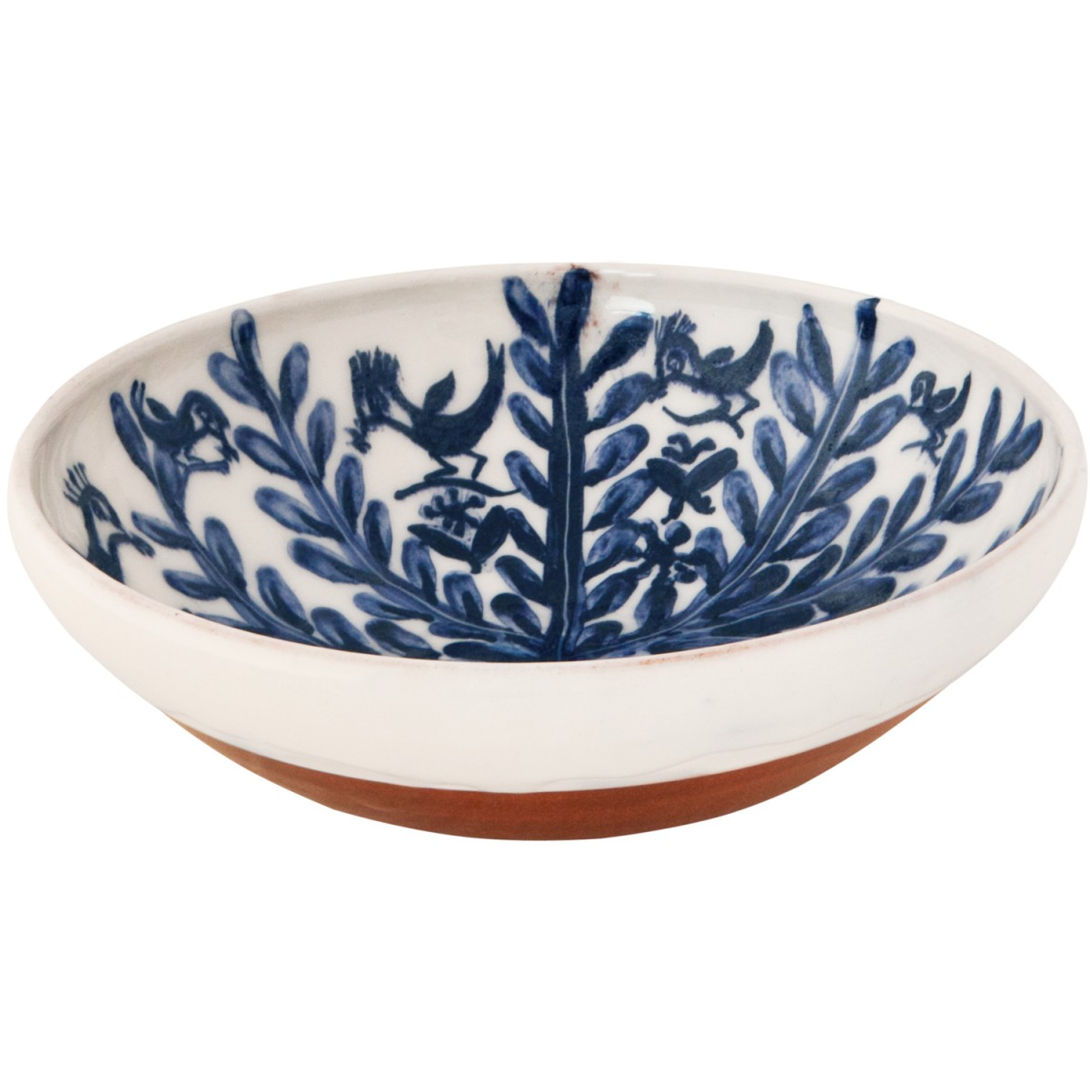 Large Decorative Bowls for Tables | Handmade Plant and Birds-1