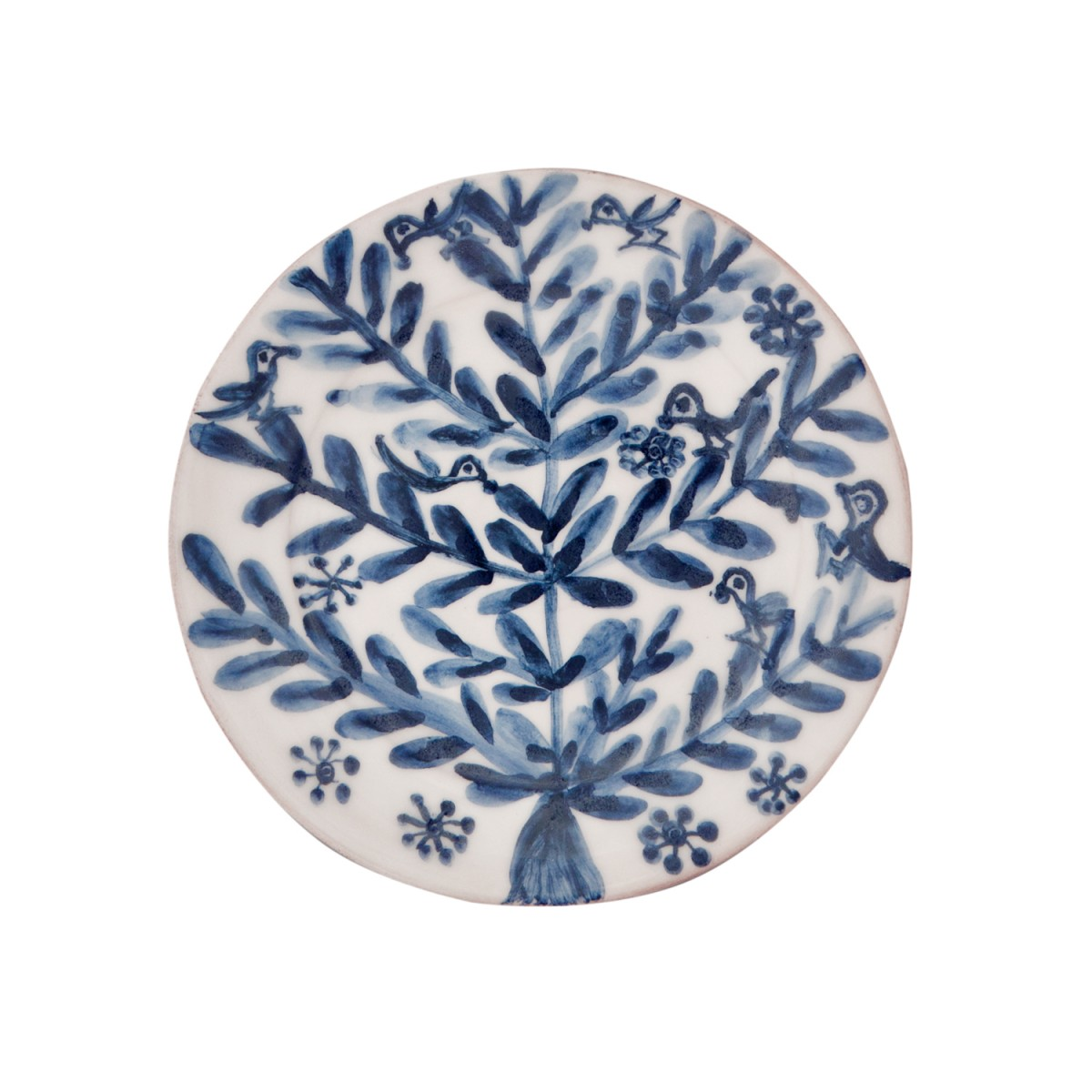 Decorative Blue and White plates, Birds and Flowers II-1