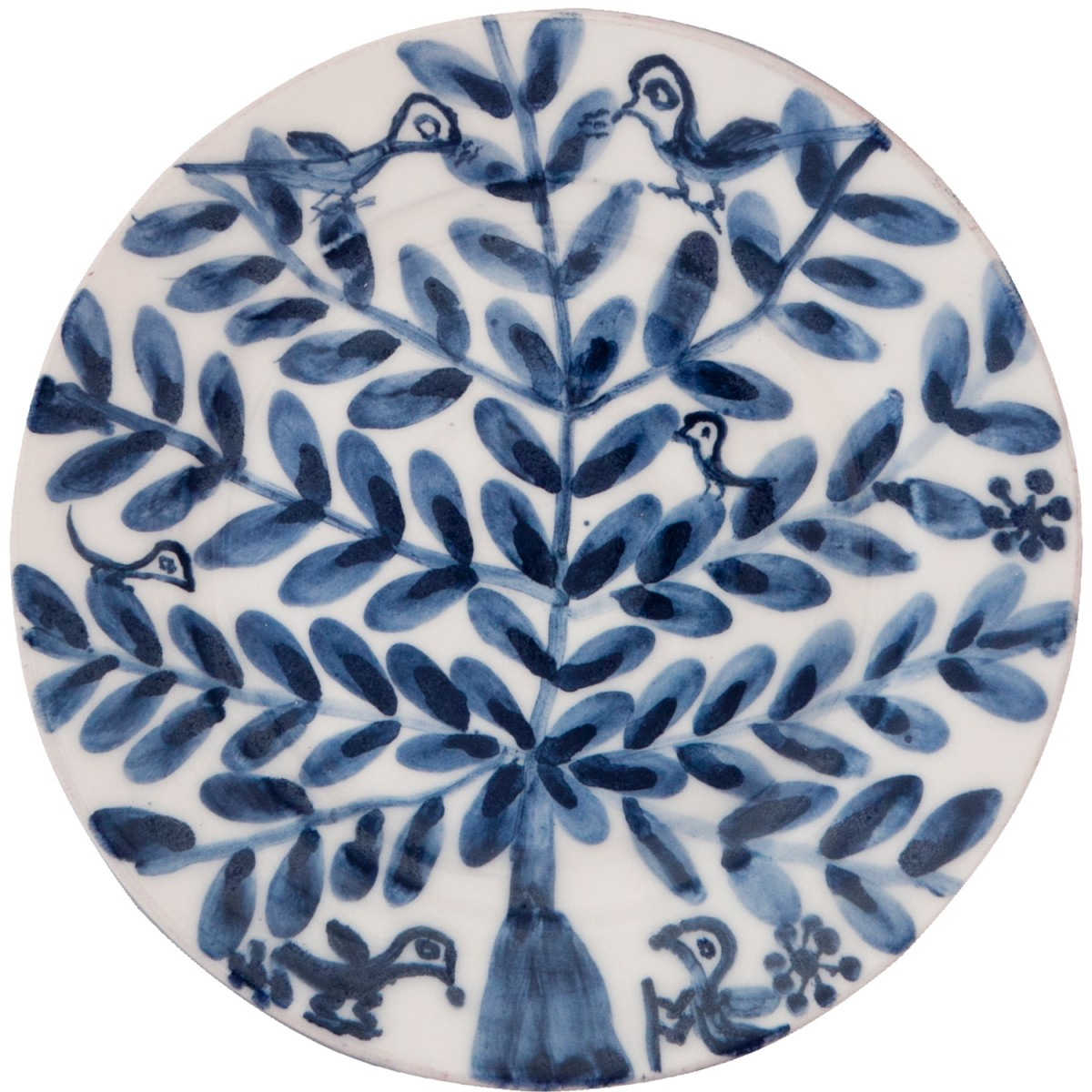 Decorative Blue and white plates - Birds on tree II - 1