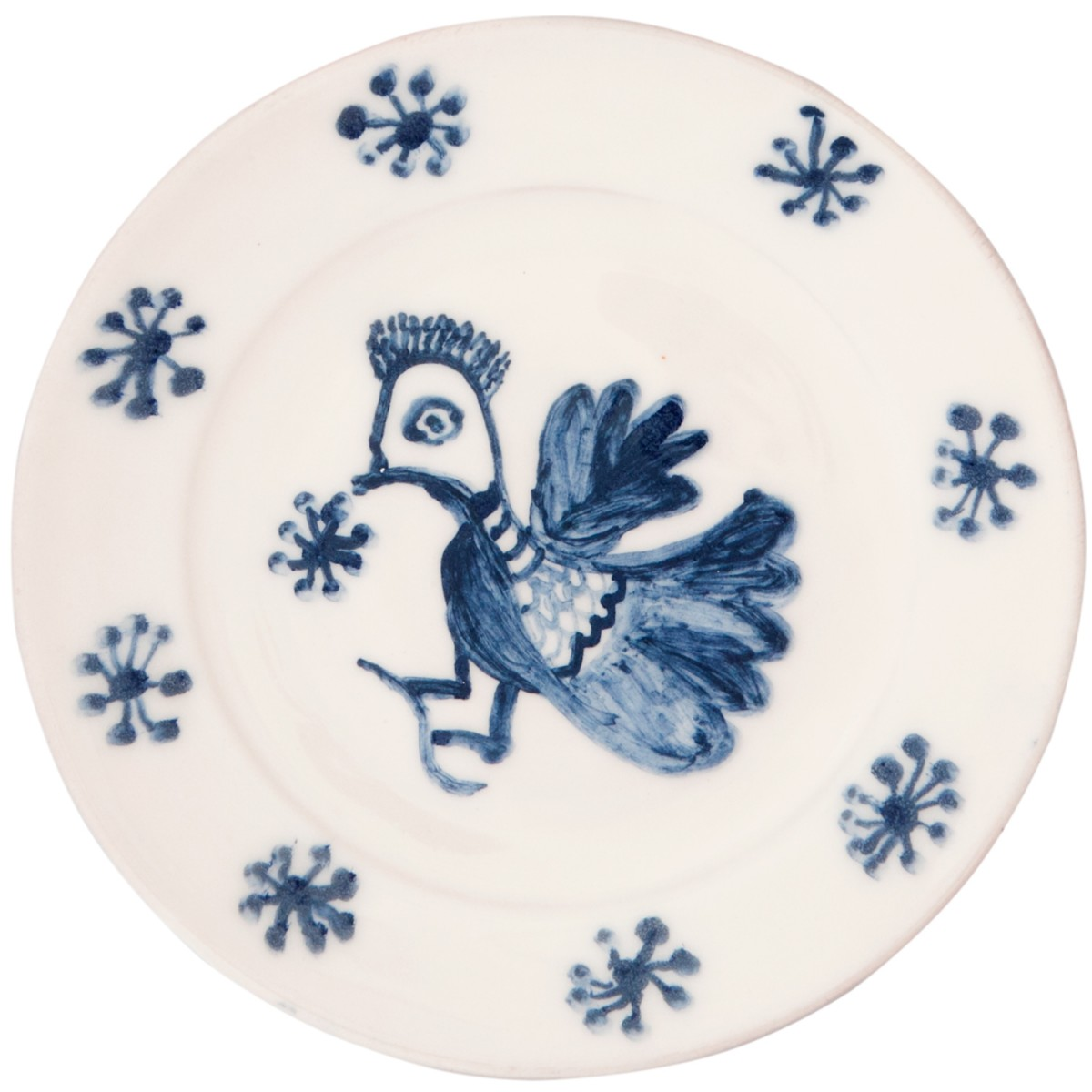 Decorative Blue and white plates, Hand painted Bird - 1