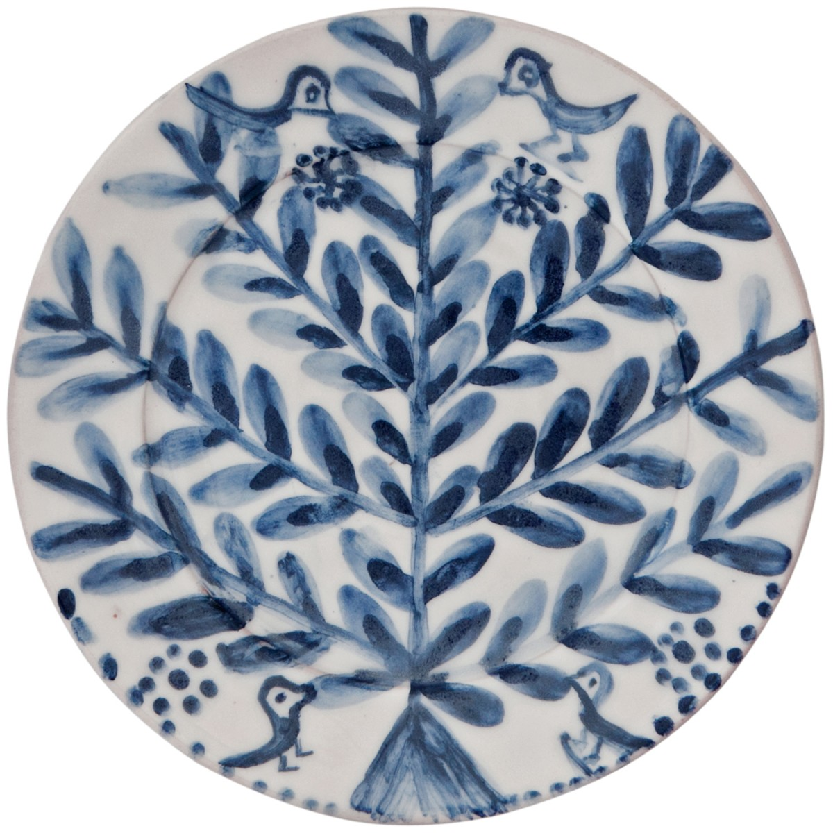 Decorative_Blue_and_White_Plates-Hand_painted-Flowers_Birds-1