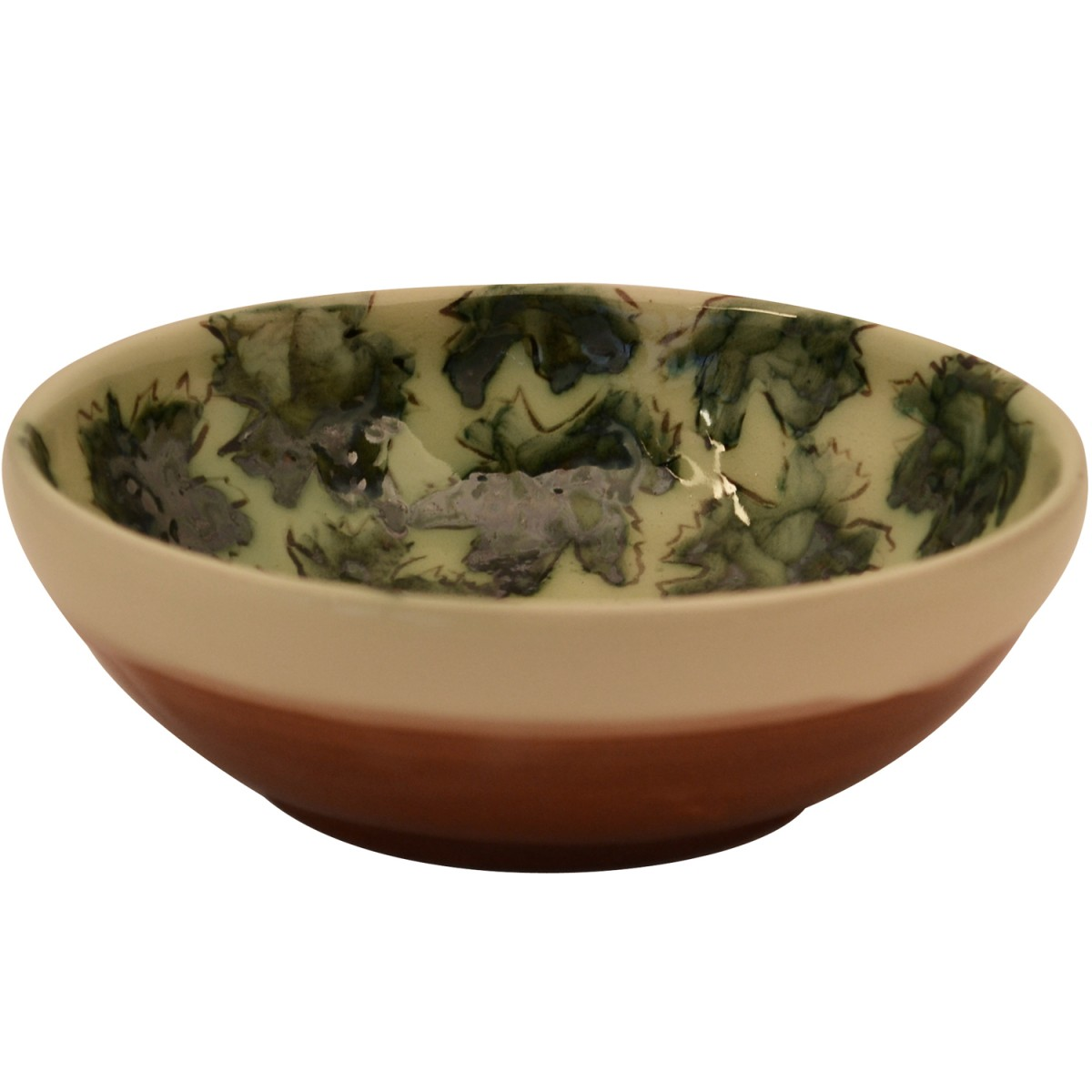 Ceramic Salad Bowl-Leafs-1