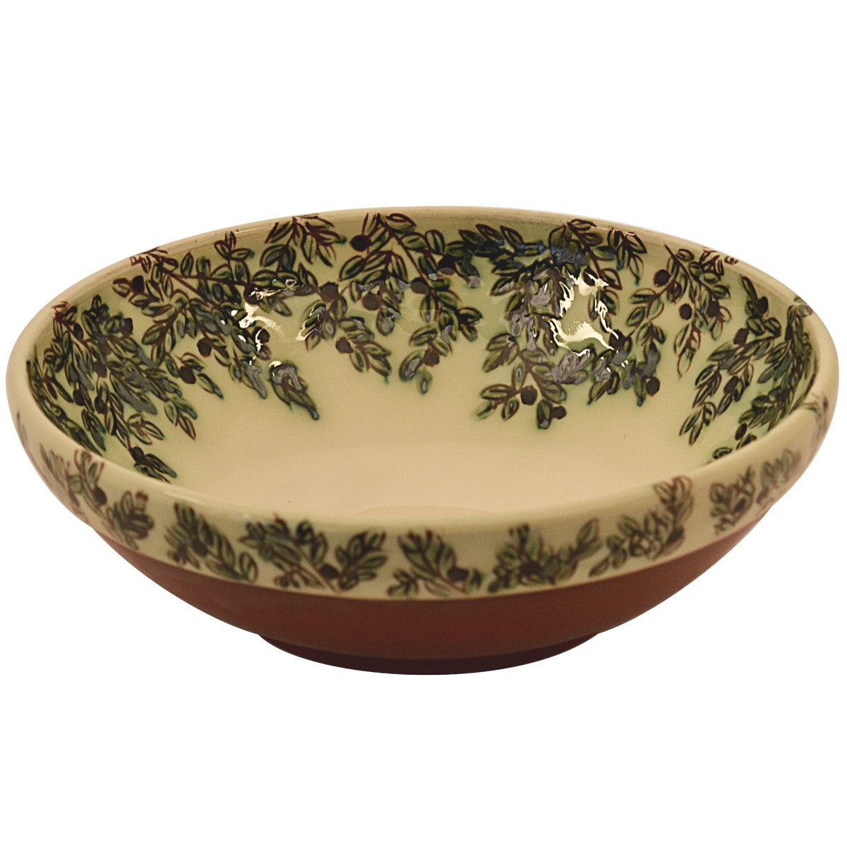 Decorative bowls for centerpieces-Ceramic-Olive Leafs-1