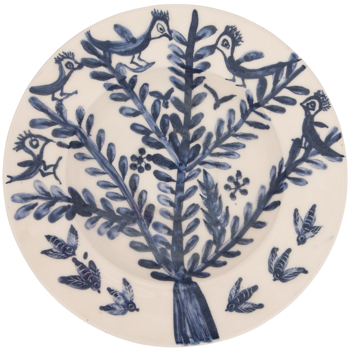 Large Decorative Bowls for tables | Tree-Birds-Bees-1
