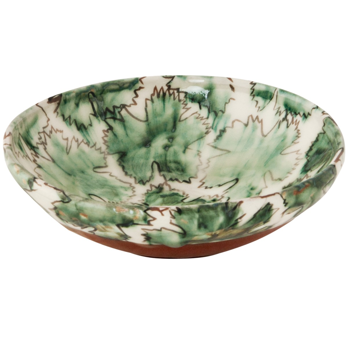 Coffee Table Bowls-Hand painted leafs-1
