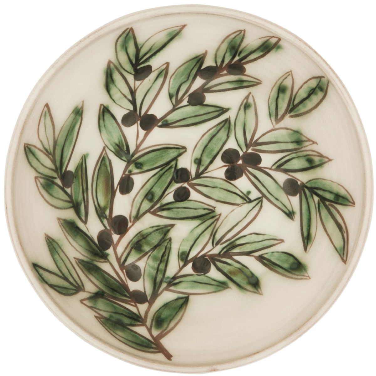 Ceramic Decorative Bowls-Hand painted Olive Branch-1