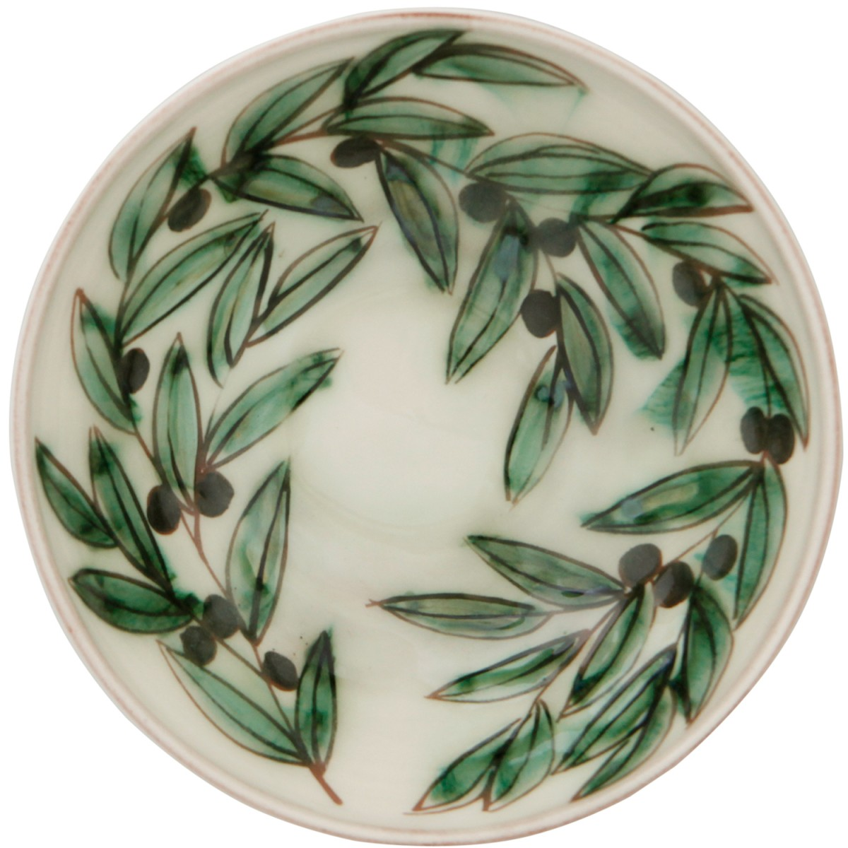 Ceramic Serving Bowls-Olive wreath II-1