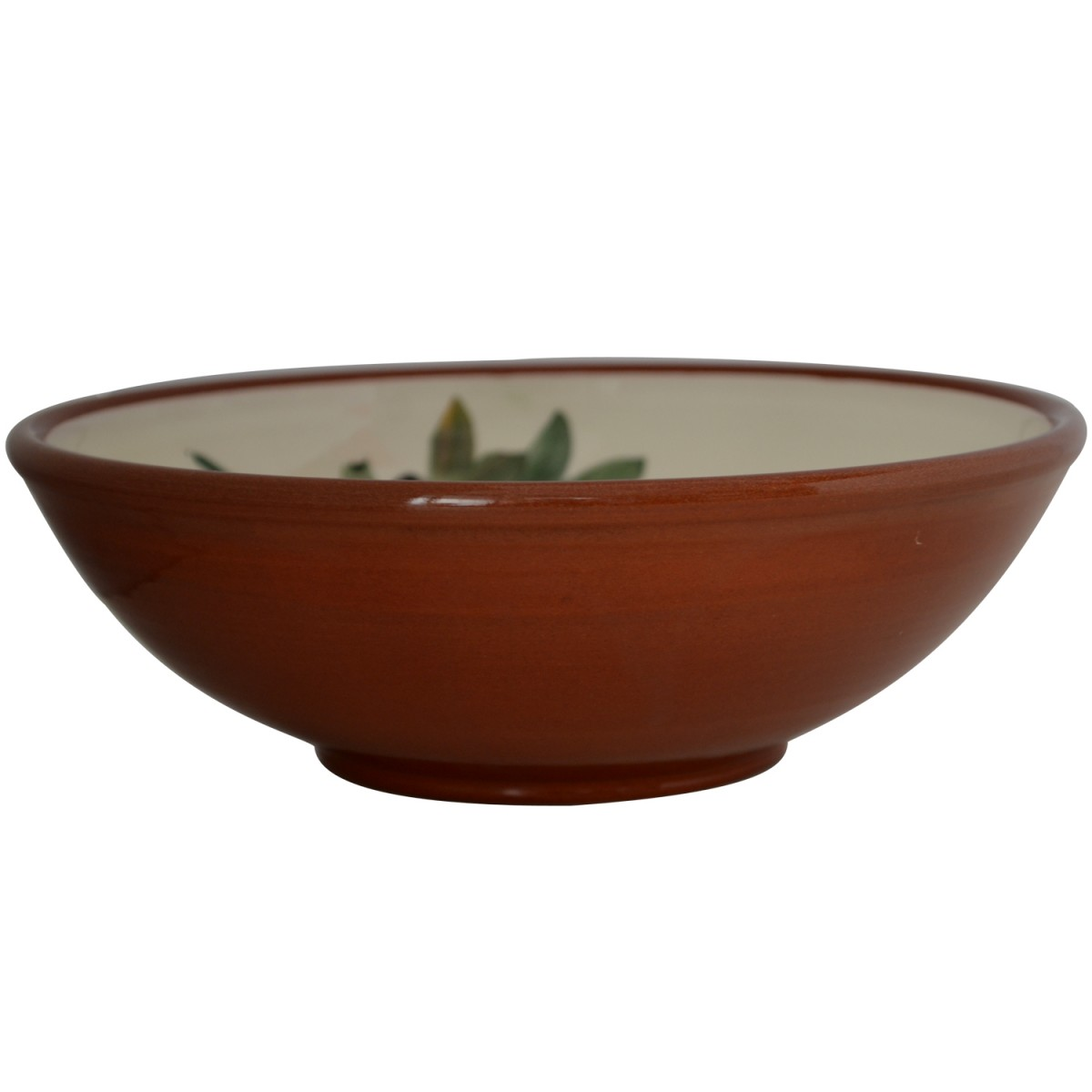 Large Pottery Bowls with hand painted Olives-1