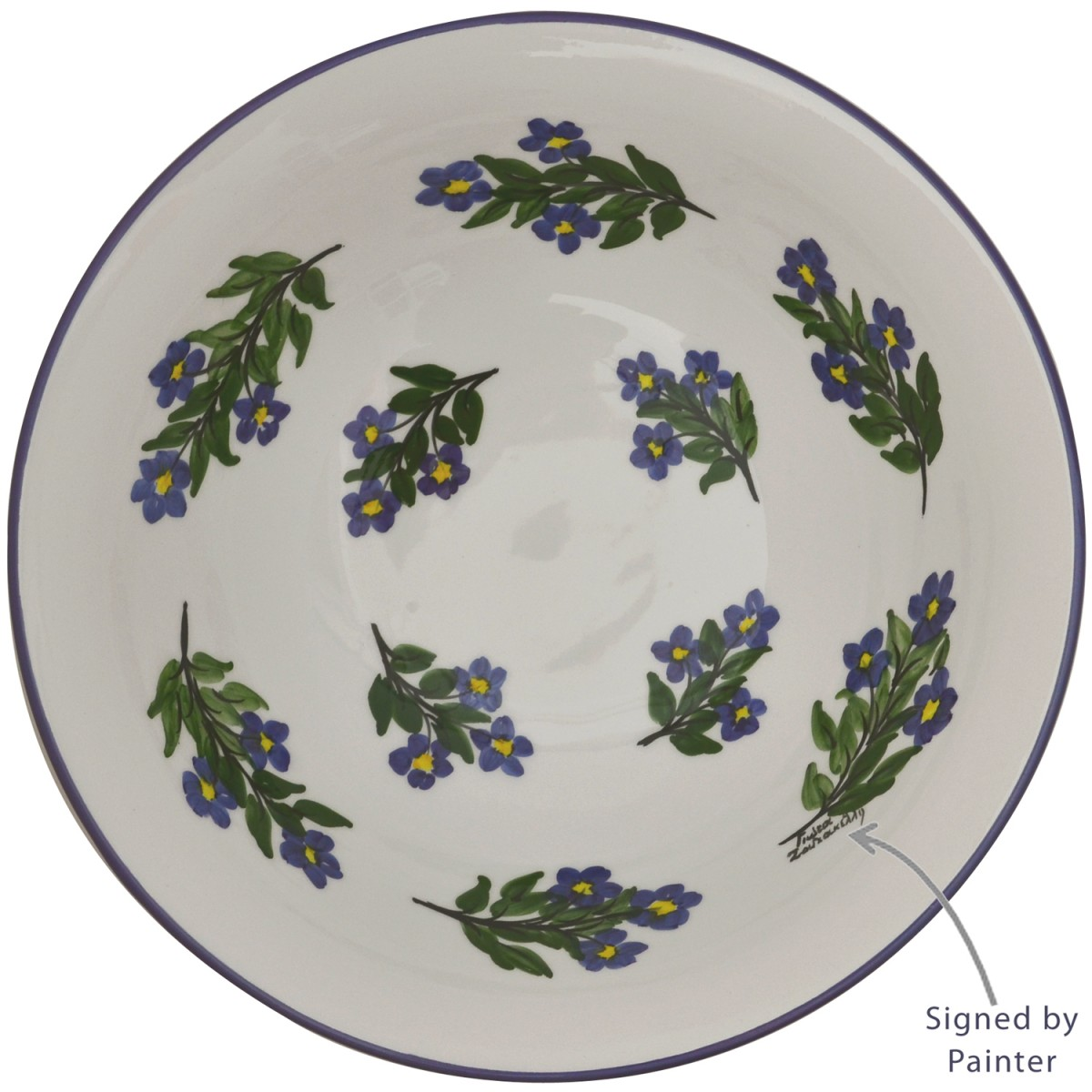 Decorative Fruit Bowl-French country style Flowers-1
