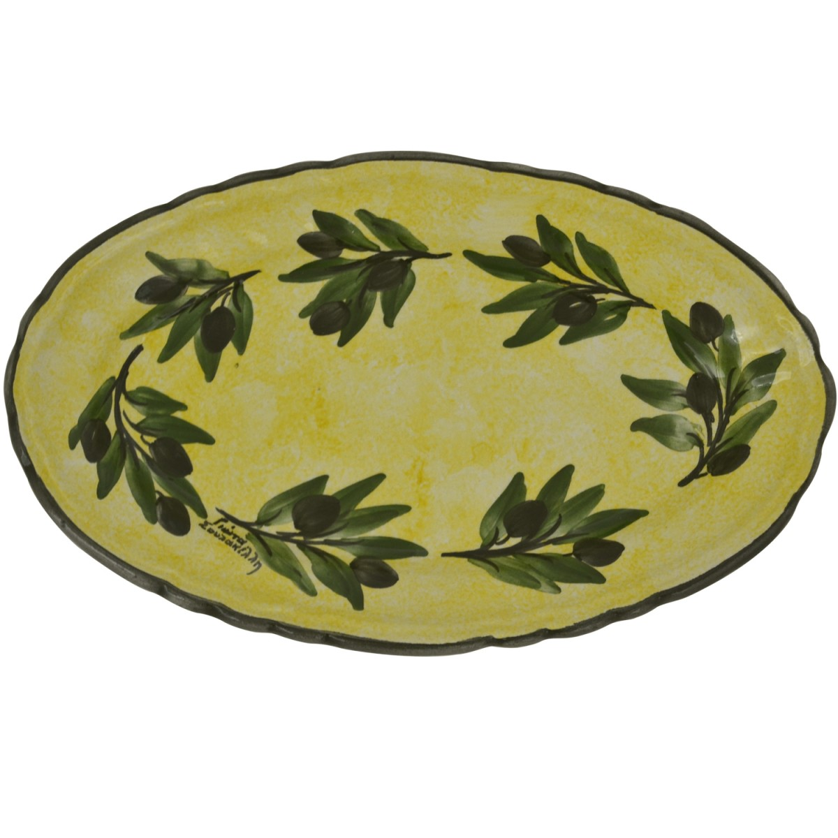 Oval_Ceramic_Side_Plate_Yellow_Ochre-1