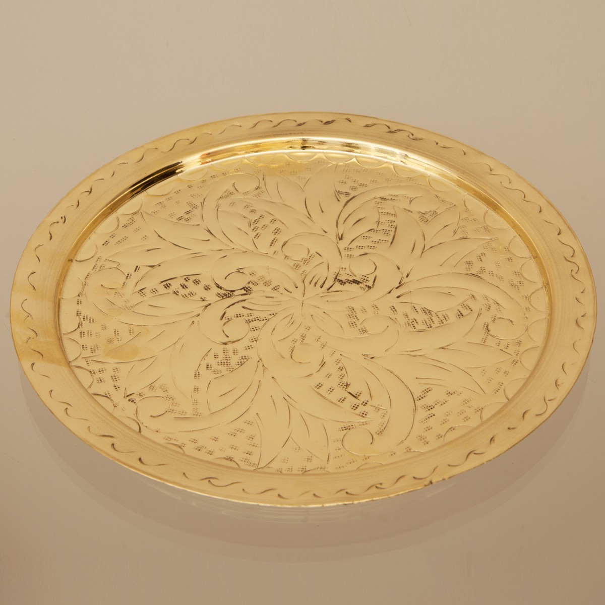 Brass Tray Engraved A