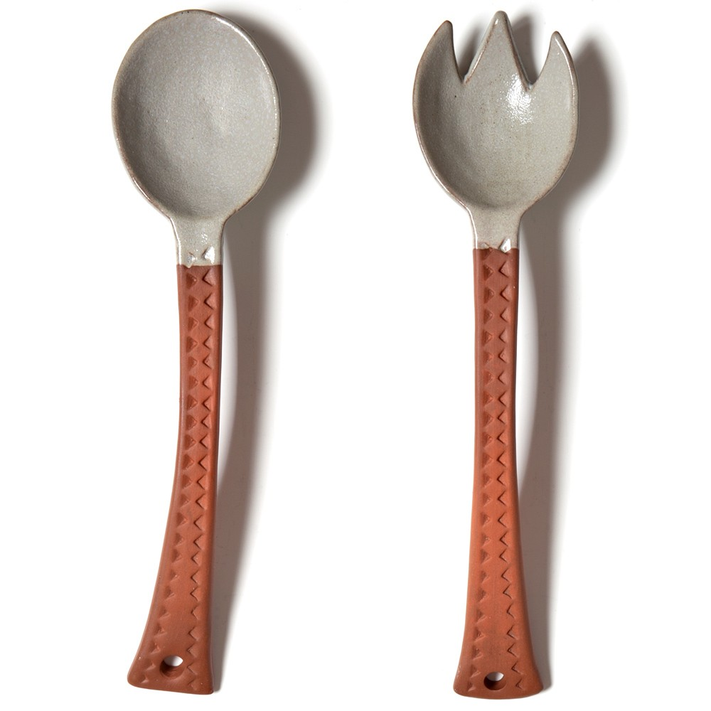 Ceramic Salad Servers Set-1