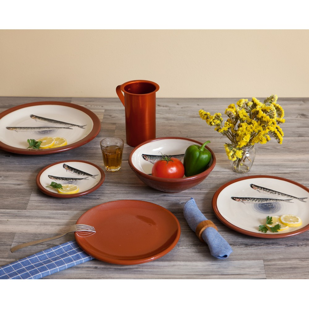Centerpiece Bowls | Hand painted Sardines Fishes-1