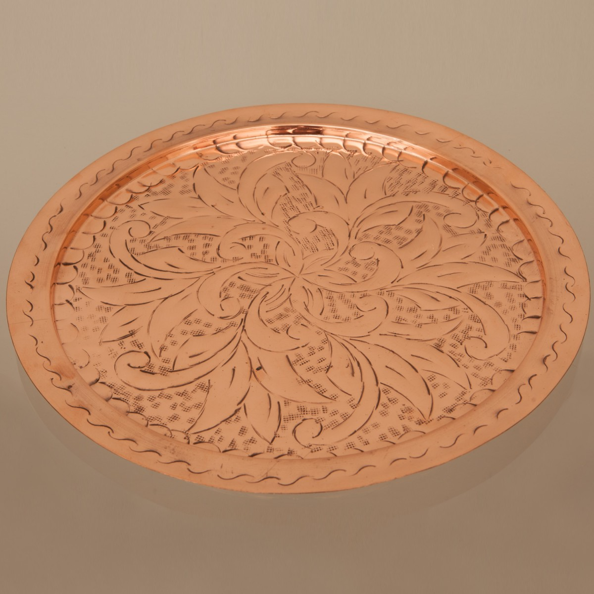 Copper Serving Tray - Large A