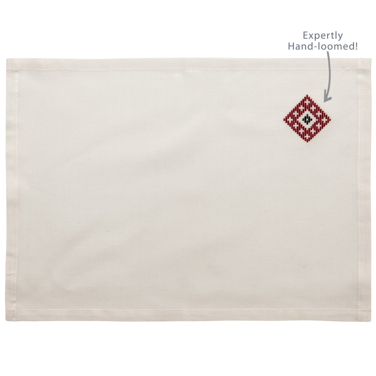 Cotton Placemat Handloomed Rhombus-1
