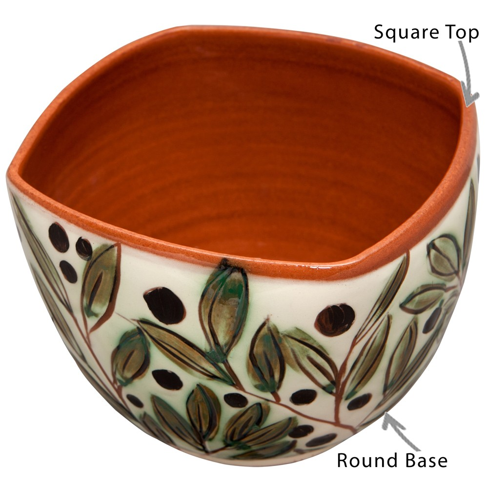 Decorative Bowls for Coffee Table-Hand Painted Olives-1