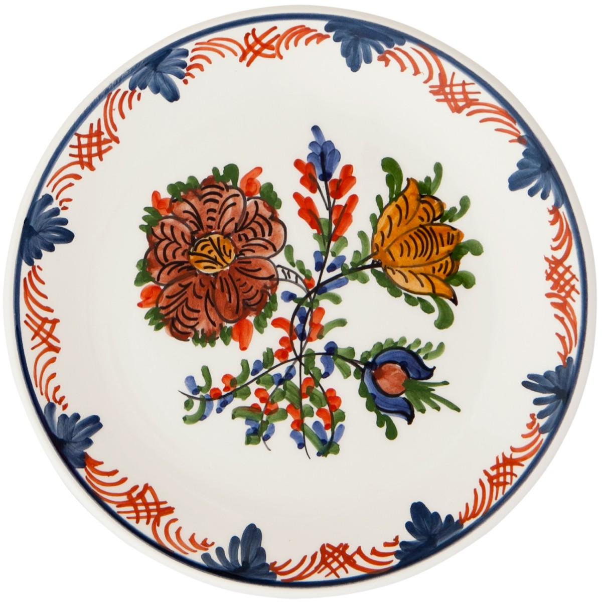 Hand_Painted_Dessert_Decorative_Plate-Blooming_Flowers-I-Skyriana_Ceramics-1