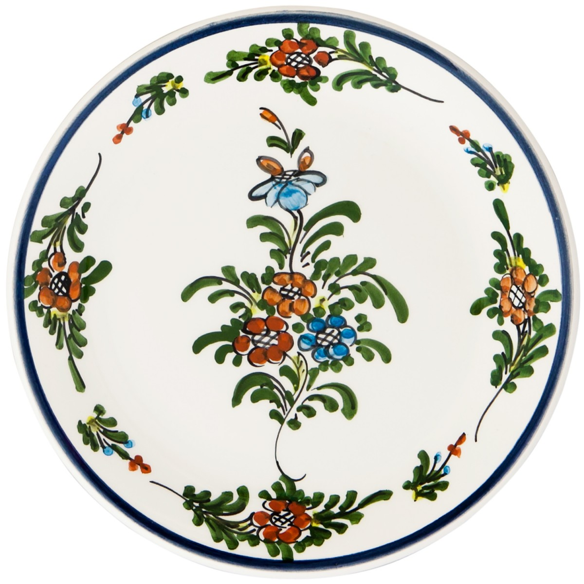 Hand_Painted_Ceramic_Dessert_Decorative_Plate-Eclectic_Flower-Skyriana_Plates-1