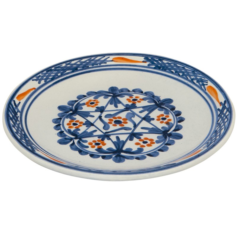 Ceramic_Hand_painted_Dinner_Decorative_Plates-Blue_and_white_Flowers_I-1