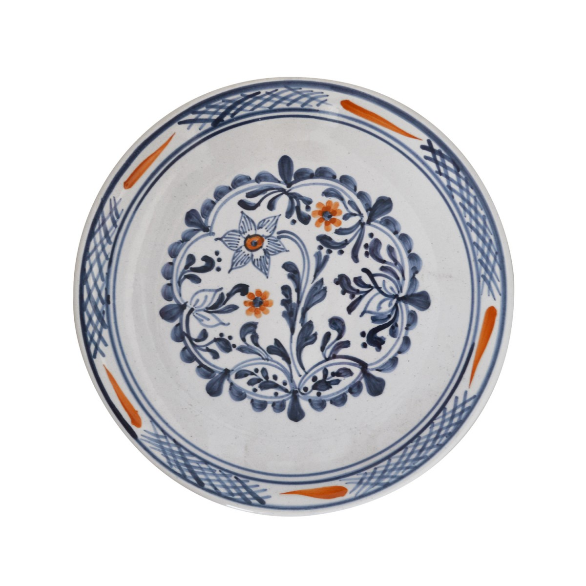 Skyriana_Hand_Painted_Blue_and-White_Dinner_Decorative_Plates-1