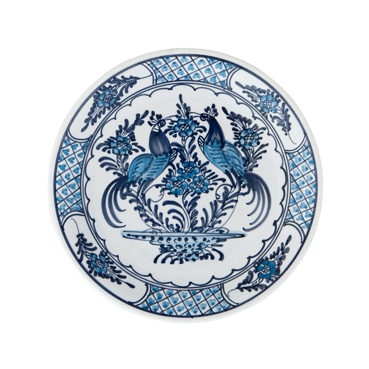 Skyriana_Hand_painted_Ceramic_Blue_And_White_Plates-Pair_Peacocks-1