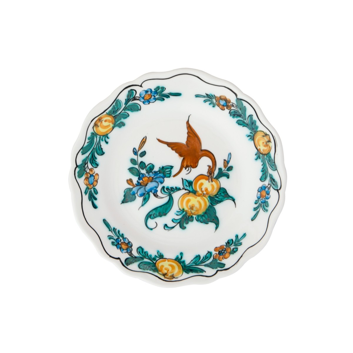 Ceramic_Hand_painted_Fruit_and_Decorative_Plate-Exotic_Bird-1