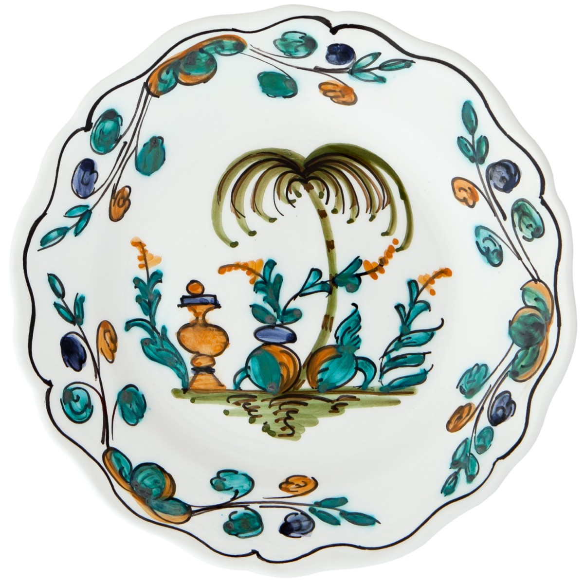 Ceramic_Hand_Painted_Decorative_Plate_Skyriana-Exotic_Tree-1