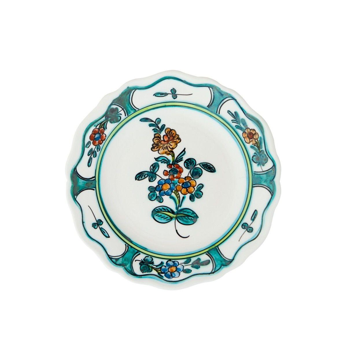 Skyriana-Hand_Painted_Ceramic_Fruit_and_Decorative_Plate-Flower_II-1