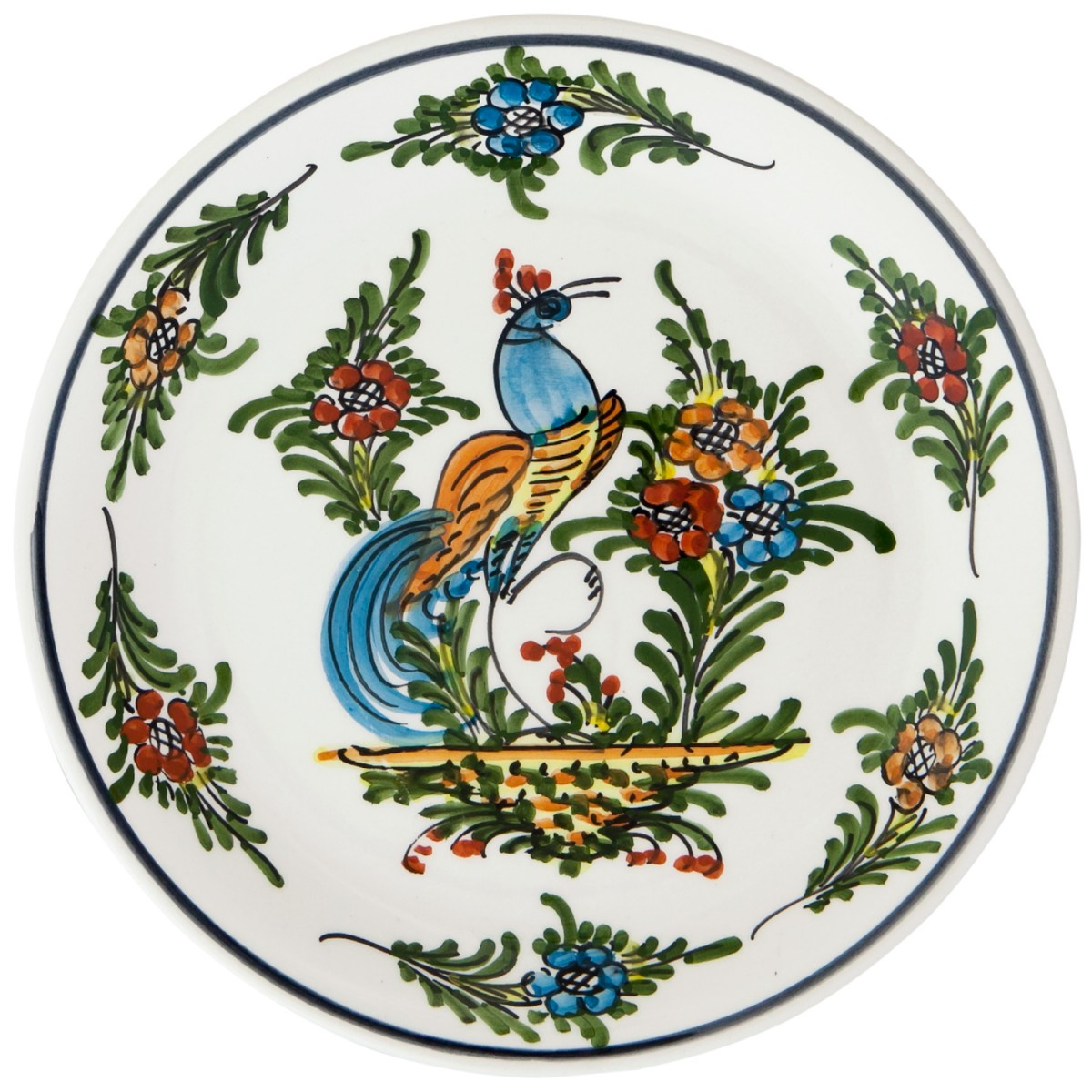 Hand_Painted_Ceramic_Fruit_Decorative_Plate-Peacock-II-1