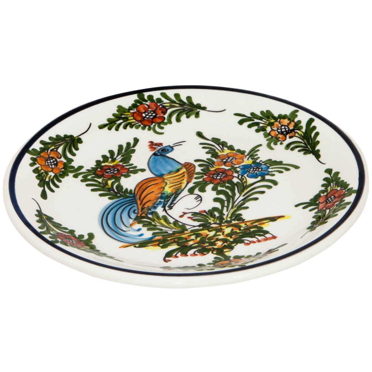 Hand_Painted_Ceramic_Fruit_Decorative_Plate-Peacock-I-1