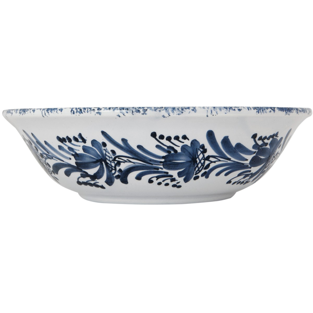 Decorative Bowls for Tables | Blue White Flower Wreath | Skyriana pottery-1