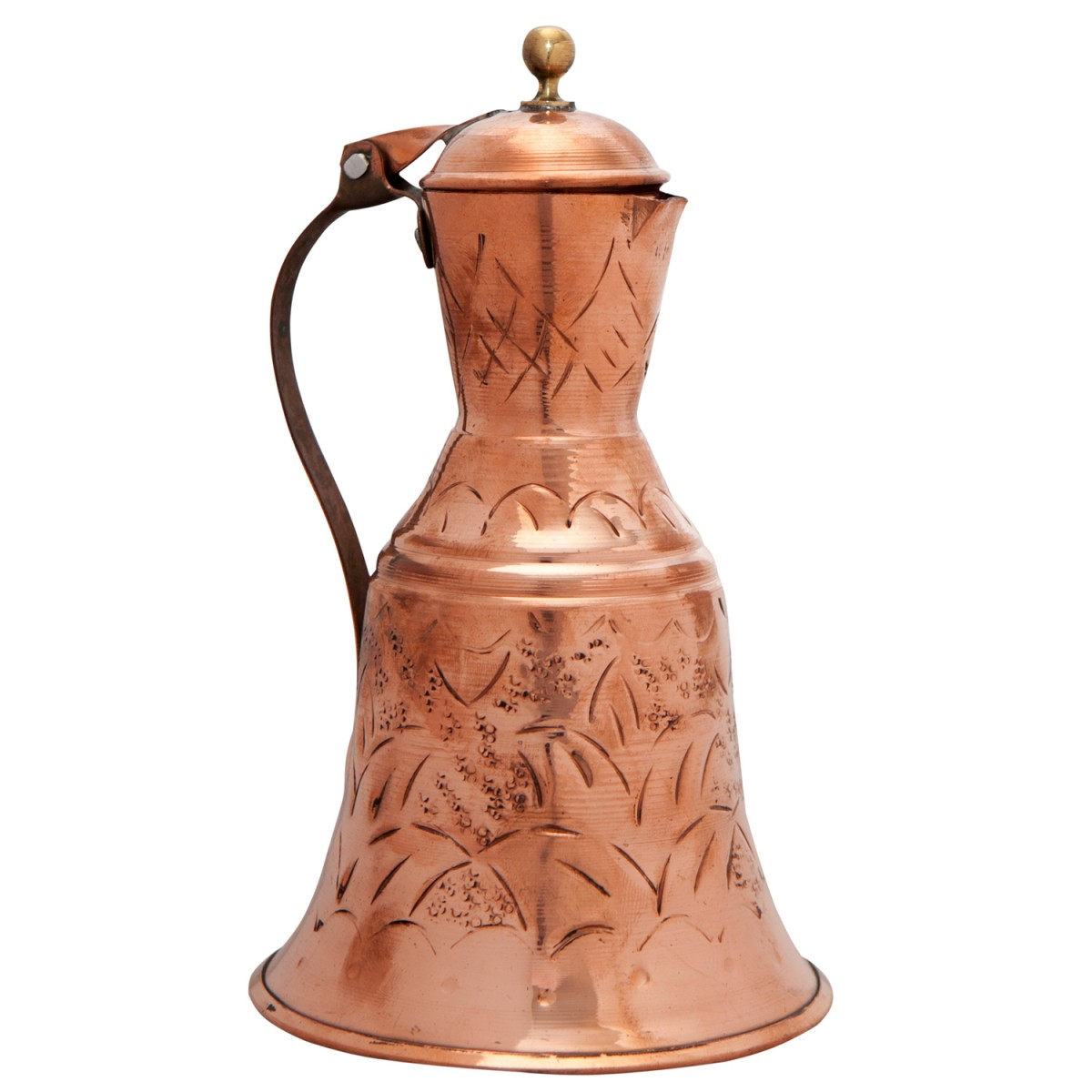 Decorative Copper Water Pitcher, Tall-1