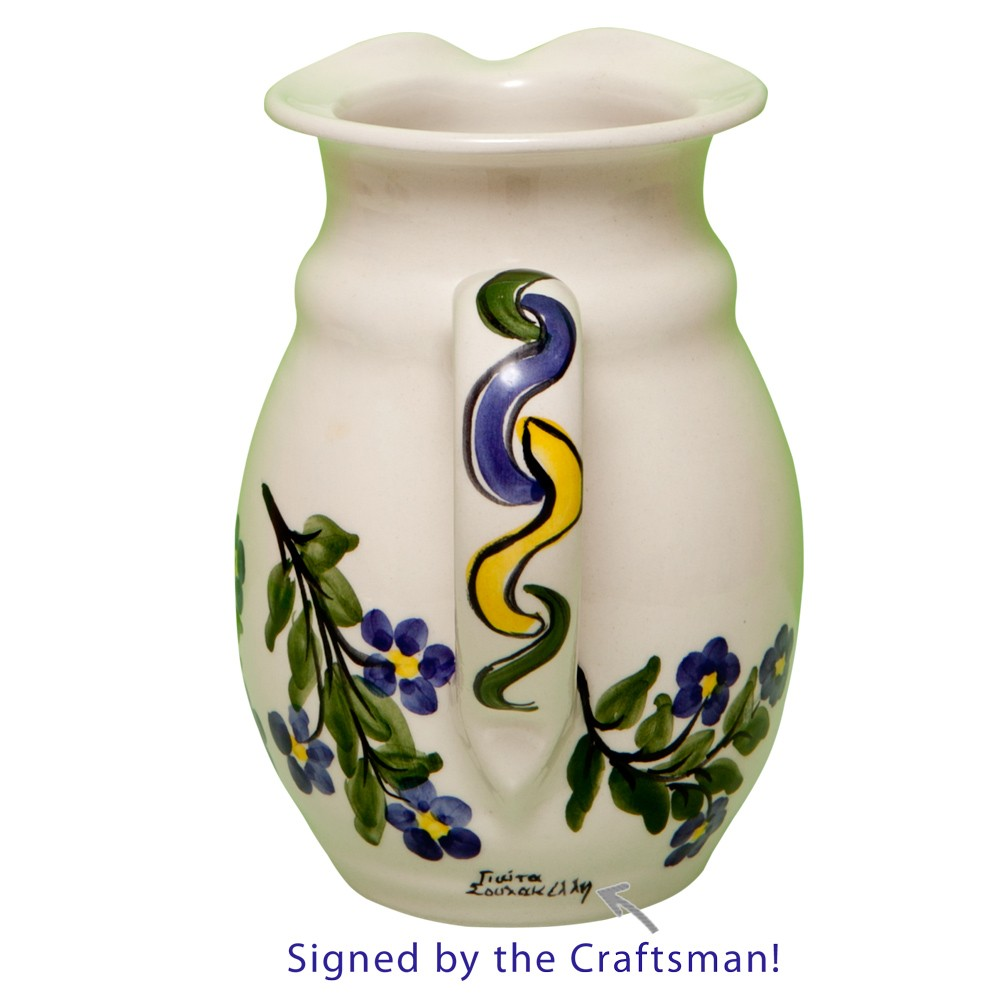 Handmade-Pottery-Jug-Forget-Me-Not-1