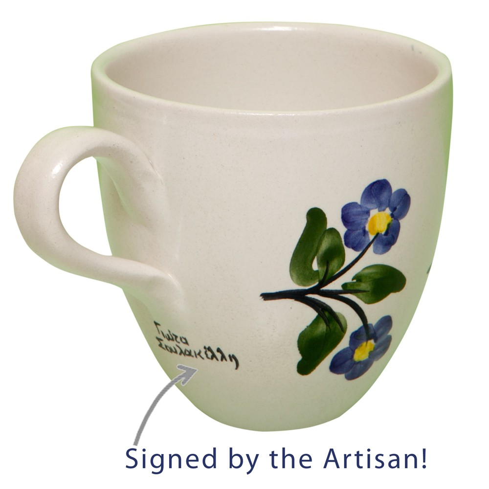 Pottery-Mugs-Hand-Painted-Flower-1