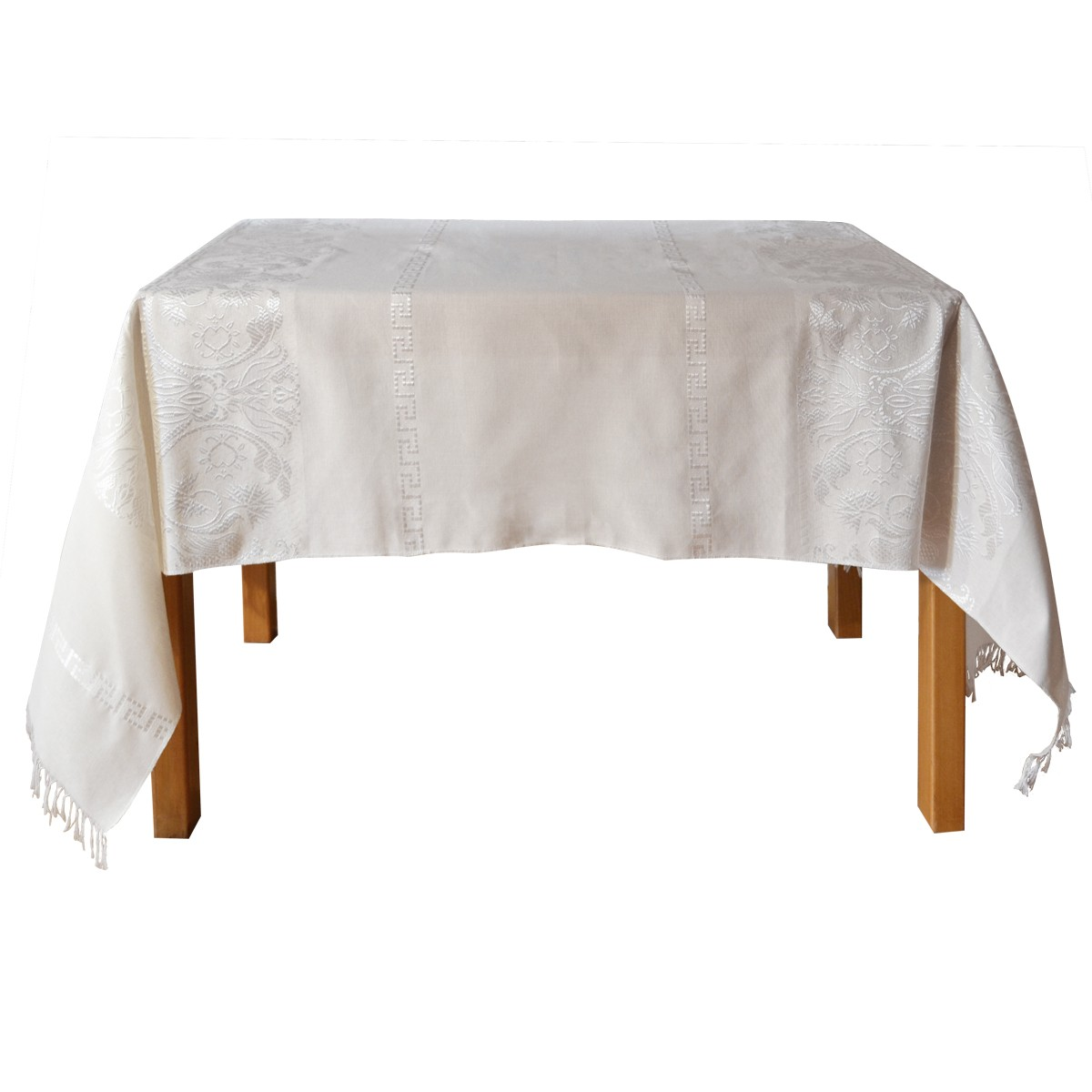 Eagle Jacquard Tablecloth, Off White