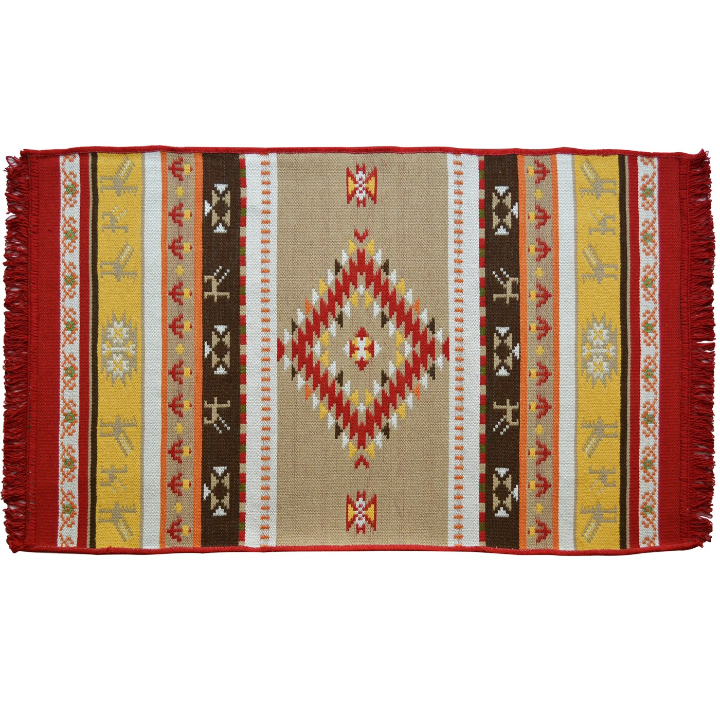 Omfalos_Ethnic_Summer_Carpet_Bright_Red