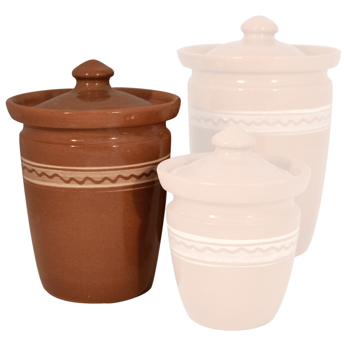 Handmade Red Clay Jar with ethnic design