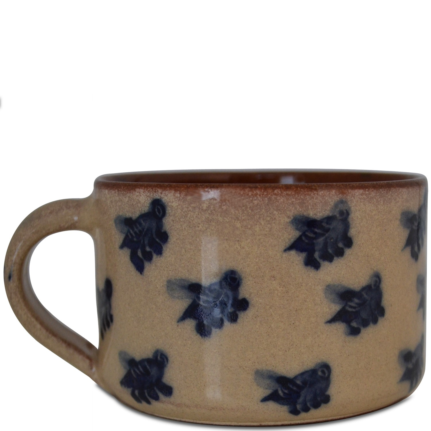 Handmade pottery mugs for sale - Hand painted Bees-1